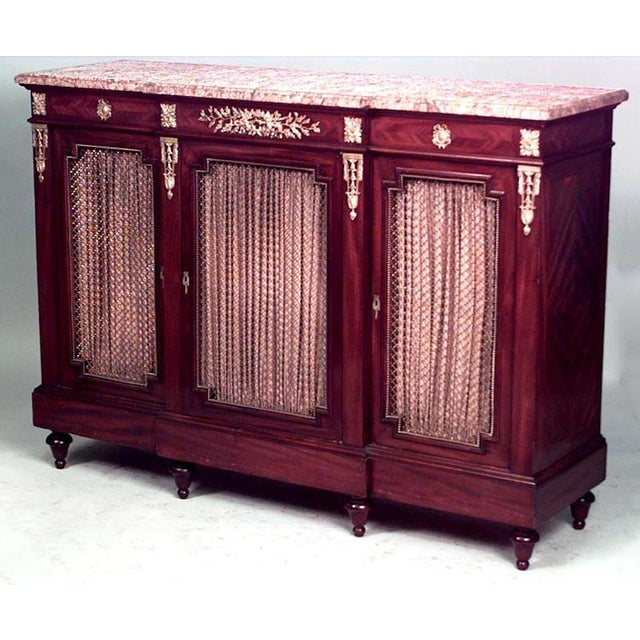 Victor Raulin Louis XVI Style Sideboard Cabinet For Sale - Image 4 of 4