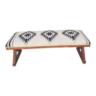 Bohemian Navajo Teak Bench