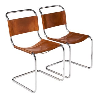 Vintage Mies Van Der Rohe Side Chairs for Knoll