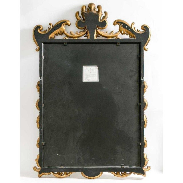 La Barge Italian Style Foliate Giltwood Wall, Console or Over the Mantle Mirror For Sale - Image 12 of 13
