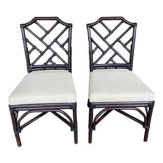Palecek Pavilion Side Chairs - a Pair For Sale