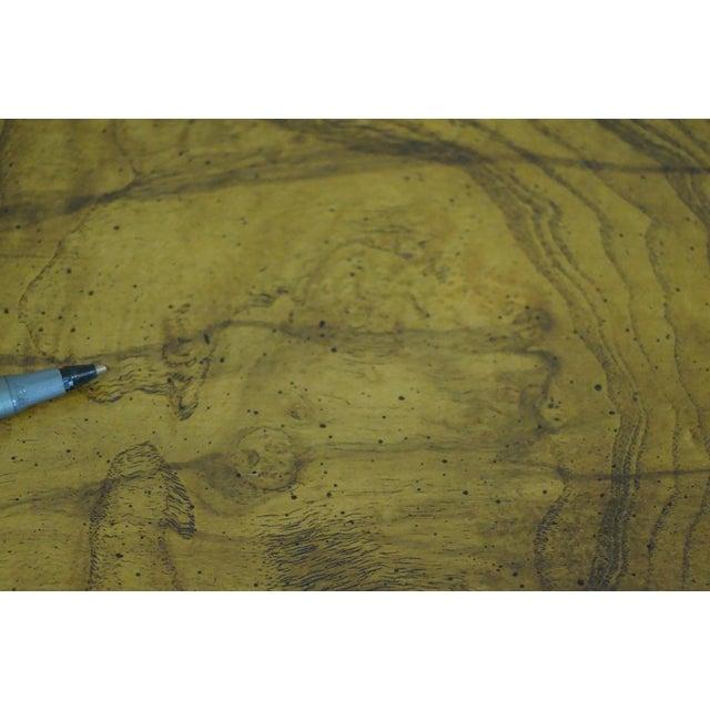 Baker Furniture Burl Wood & Walnut Bombe Chest - Image 7 of 10