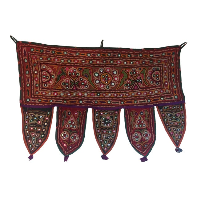 Indian Embroidered Mirror Valance For Sale