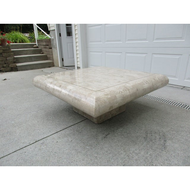 Tessellated Stone Coffee Table for Mission Furniture Los Angeles For Sale - Image 6 of 11