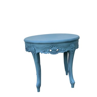 Vintage Tiffany Blue Accent Table For Sale