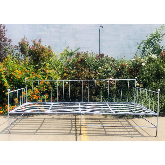 Vintage Wrought Iron Daybed Sofa For Sale In Raleigh - Image 6 of 6
