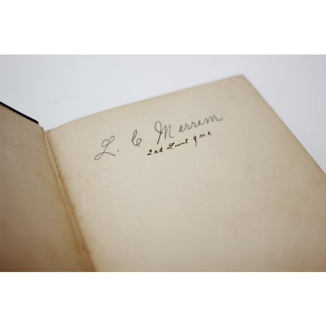 Antique Burgundy Books - A Pair - Image 8 of 9