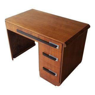 Donald Deskey Art Deco Walnut Desk - Attributed For Sale