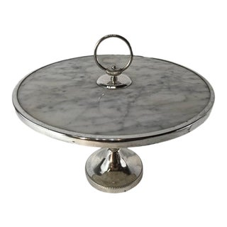 French Bistro Hotel Silver and Marble Tazza