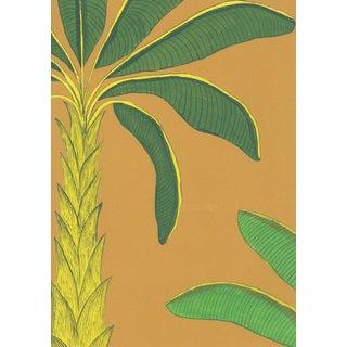 Tropical Wallpaper in Gamboge Yellow, Sample For Sale