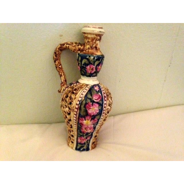 Antique Fischer J. Budapest Pitcher For Sale - Image 4 of 9