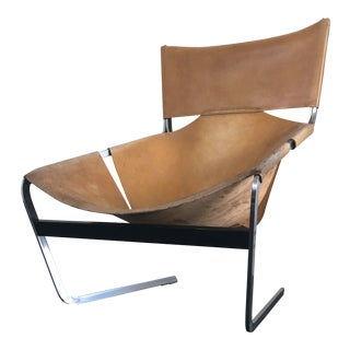 Pierre Paulin for Artifort Mid Century Modern Leather Easy Chair For Sale