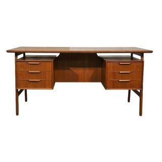 "Danish Mid Century Teak Oman Jun Desk - ""Nanortalik"" For Sale"