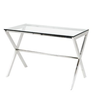 Criss Cross Glass Home Desk For Sale