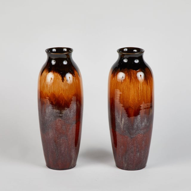 Pair of 1950s lustreware vases from England.
