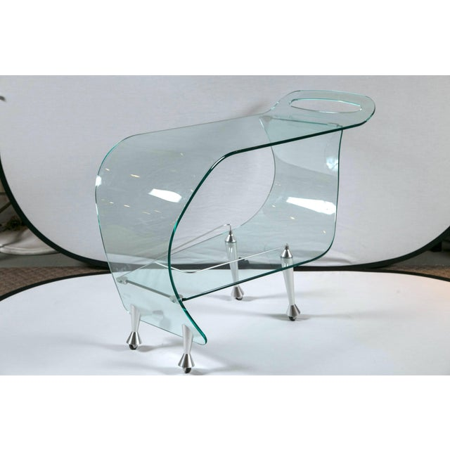 Mid-Century Modern 1960s Mid-Century Modern Glass Sculpted Bar by Fiom For Sale - Image 3 of 8