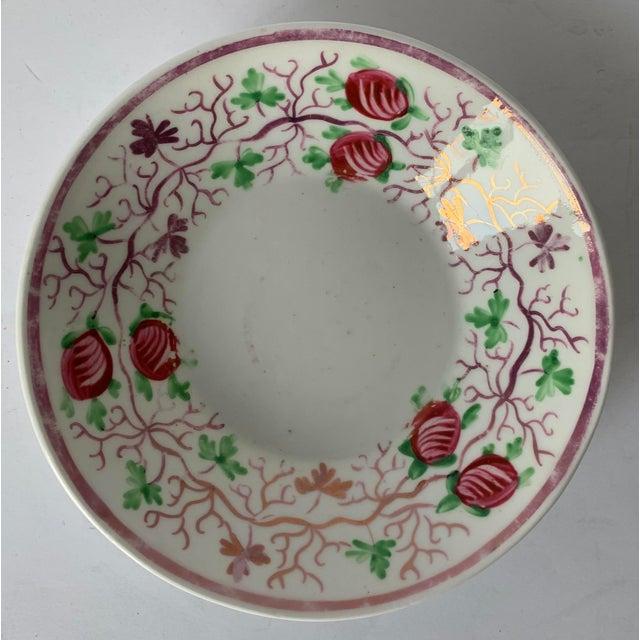Antique English Lustreware Berry Motif Trinket Dish For Sale - Image 10 of 10