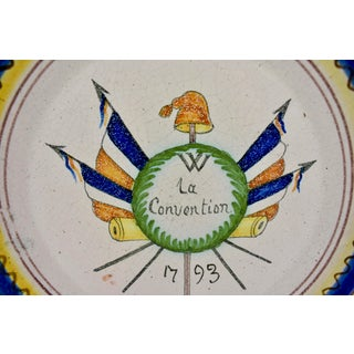 18th C. Nevers French Revolution Tin-Glazed Dish - La Convention Preview