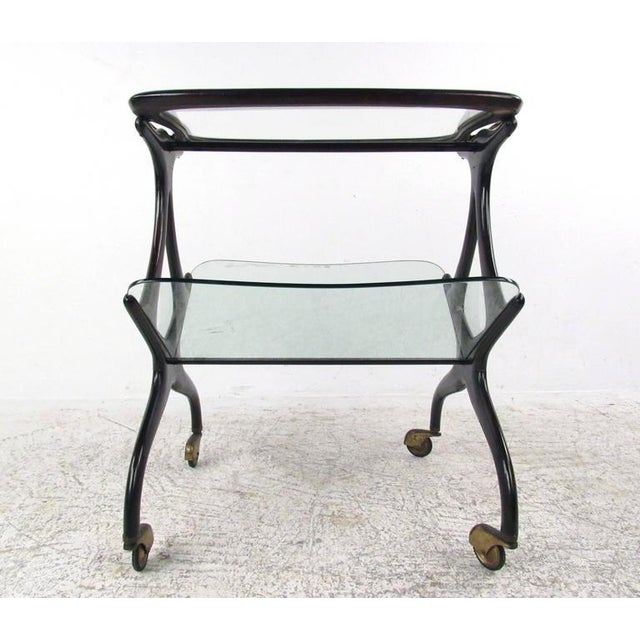 Cesare Lacca Italian Side Table Magazine Rack - Image 4 of 11