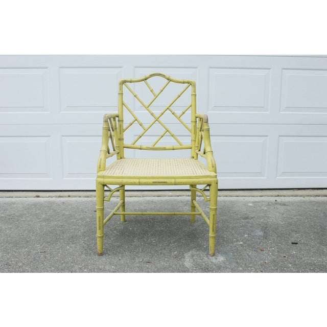 Chippendale Faux-Bamboo Fretwork Armchair - Image 3 of 8