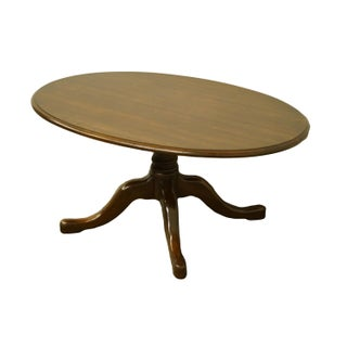 """20th Century Traditional Pennsylvania House Solid Cherry 36"""" Oval Accent Coffee Table Preview"""