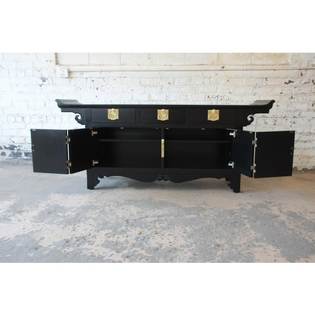 1960s Michael Taylor for Baker Far East Collection Chinoiserie Sideboard Credenza For Sale - Image 5 of 13