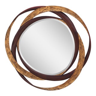 1990s Dauphine Harrison & Gil Hand Carved Hanging Wall Mirror For Sale