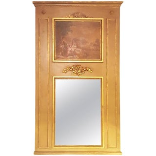 19th Century Trumeau Mirror For Sale