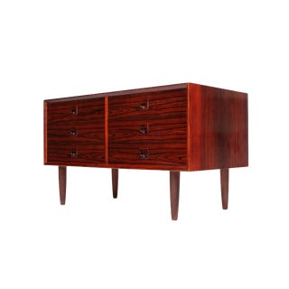 Vintage Brauer Danish Modern Six Drawer Low Sideboard For Sale
