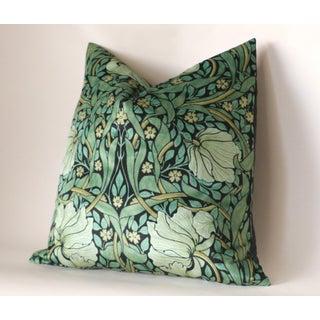 Art Nouveau William Morris Pimpernel Green Velvet Euro Sham Preview