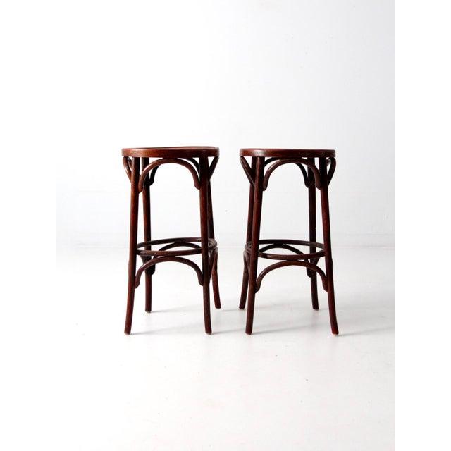 Bentwood Cafe Stools Circa 1950 - A Pair - Image 2 of 7