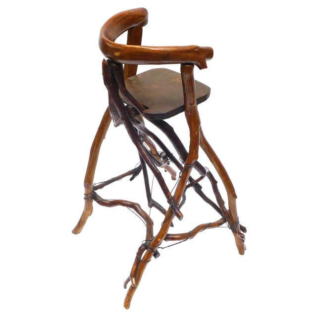 Primitive Twig High Chair For Sale - Image 4 of 9
