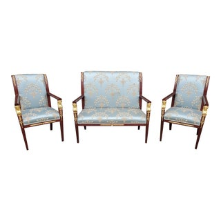 Empire Style Salon Sette and Chairs- Set of 3 For Sale