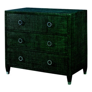 Century Furniture Charleston 3 Drawer Chest (w/glass), Deep Green For Sale