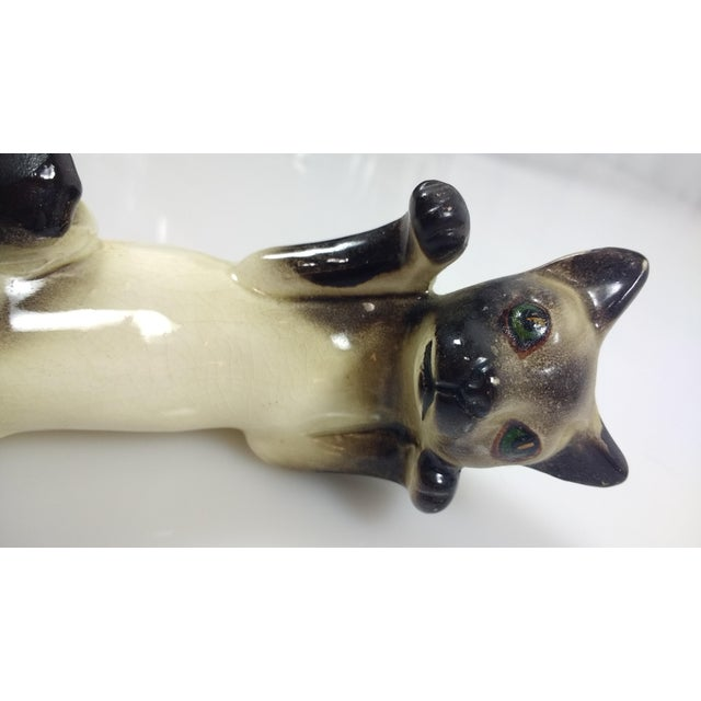 Vintage Hand-Painted Ceramic Hanging Siamese Cat - Image 3 of 7