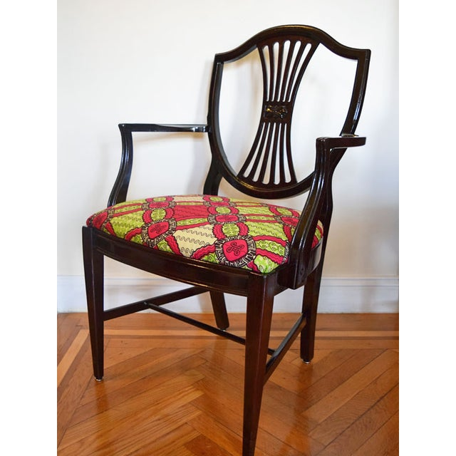 Antique-Style Shield Back Armchair - Image 3 of 7