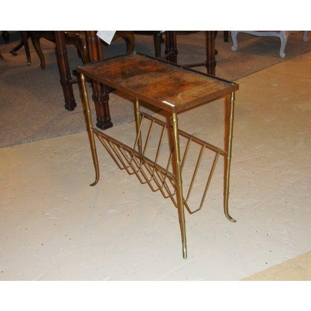 Jansen Style Bronze Bamboo Magazine Table - Image 5 of 9