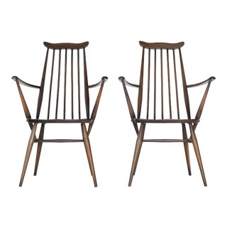 Mid Century Early Ercol Goldsmith Windsor Chairs - a Pair For Sale