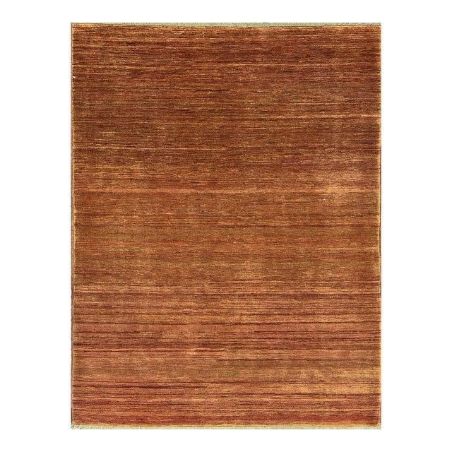 Contemporary Hand Woven Rug - 4' X 5'5 - Image 1 of 4