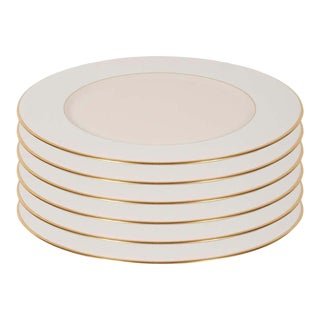 Modernist Charger Plates in 24-Karat Gold and Bone China by Lenox - Set of Six For Sale