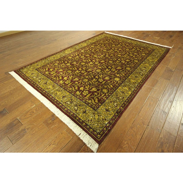 """Suzani Collection Oushak Floral Rug - 6'2"""" x 8'10"""" - Image 2 of 10"""