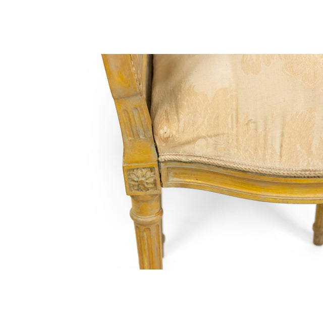 French Louis XVI Lyre Side Chairs For Sale - Image 10 of 11