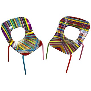 Mauro Oliveira Stylized Side Chairs - a Pair For Sale