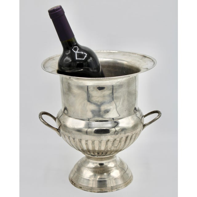 Vintage Mid Century Modern Silver Plate Champagne Ice Bucket For Sale - Image 10 of 13