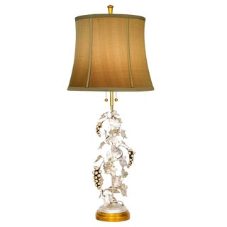 Silver & Gold Grapevine Lamp by Marbro For Sale