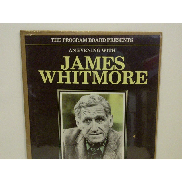 "Vintage ""James Whitmore"" College Show Poster - Image 3 of 4"