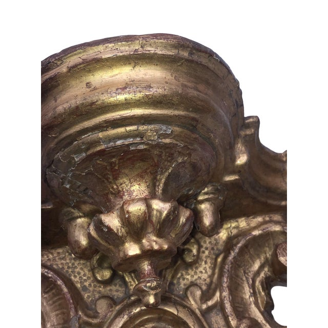 18th Century Italian Gilt Heavily Carved Bracket For Sale - Image 4 of 8