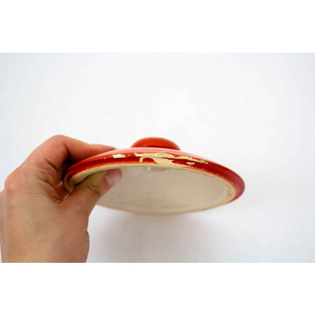 Ceramic Vintage Hand Painted Floral Pottery Jar For Sale - Image 7 of 9