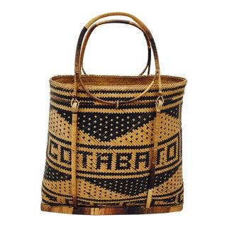 Vintage Cotabato City Woven Souvenir Bag For Sale