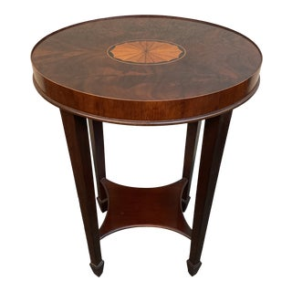 Heckman Furniture Copley Collection Inlaid Accent Table For Sale